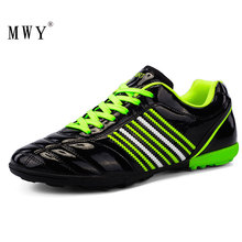 MWY Soccer Cleats Shoes Men Professional Indoor Turf TF Football Zapatillas Futbol Breathable Sneakers Sports Trainers