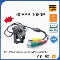 GENIUSPY Metallo Mini Piazza SDI Camera 60FPS CCTV Panasonic 2MP Full 1080 P HD SDI Mini Box Security Camera 3.7mm Pin Hole Lens