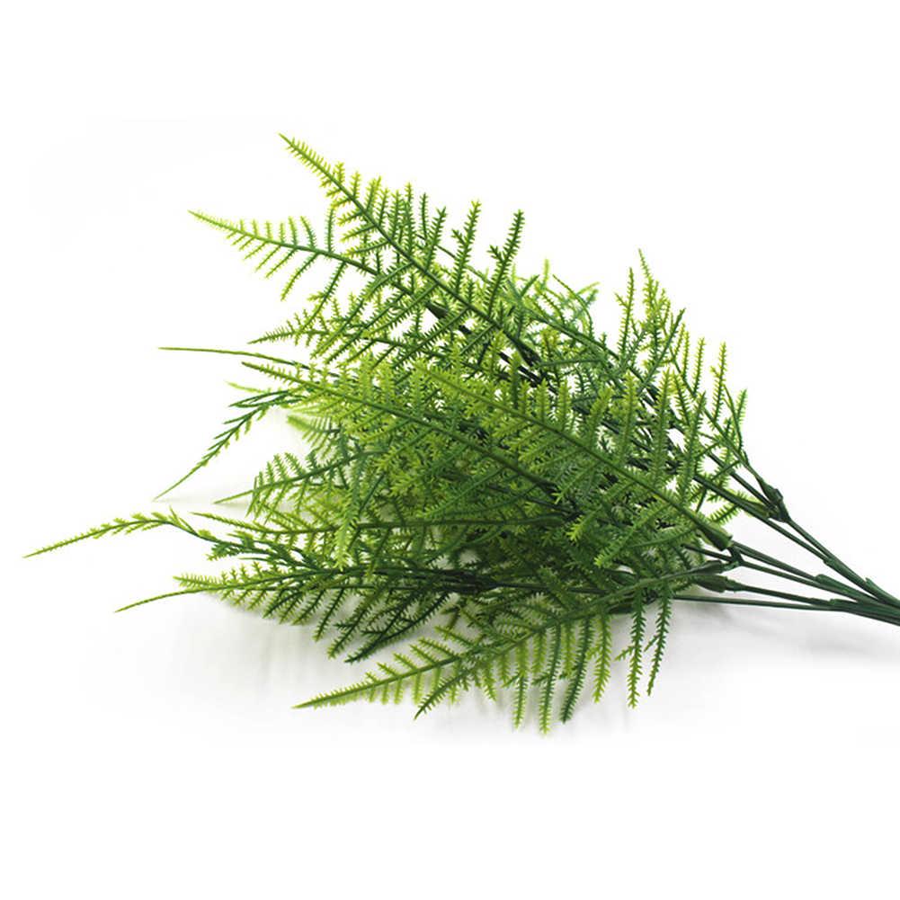 1 шт. искусственный спаржа папоротник домашнее украшение папоротник моделирование растение горшках зеленая искусственная пластиковая трава 35 сетка персидский бамбук M18