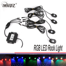 Hot Multi color CREE RGB LED Rock Light Kits with Bluetooth Cell Phone Wireless Remote Control