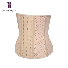9ce5372108 Black Nude Women s Latex Waist Trainer 9 Steel Boned Corset For Weight Loss  Breathable Short