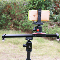 Ulanzi 40cm/15'' Phone Video Slider Dolly, Portable Compact Track Travel Slider Rail System Stabilizer for iPhone Samsung DSLR