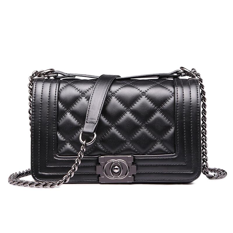 black diamond lattice bags female party crossbody chain bag plaid handbag quilted sac a main femme