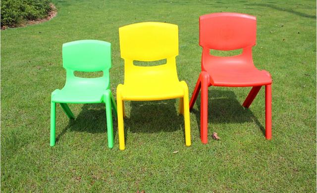 24CM sitting height Eco-friendly PP Kindergarten chairs  Safety Thicken small armchair for 1-2 years children