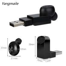 Yangmaile Mini Wireless Mini Invisible Car Headset Single In Ear Earbud Earphone With HD Mic Free Shipping H1T07