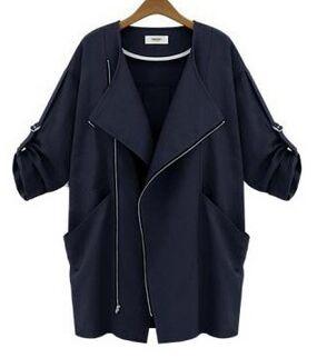 Loose Winter Women Woolen Coat Wild Casual Long Woolen Coat Rivet Korean Style Womens,Black,L