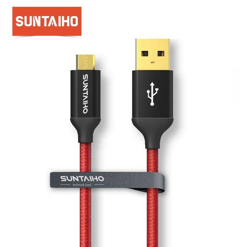Suntaiho Fever Level USB cable Nylon Fashion Black Data USB Fast Charging Cord for iPhone 7 6 6s Plus 5s/Samsung/IOS/Android