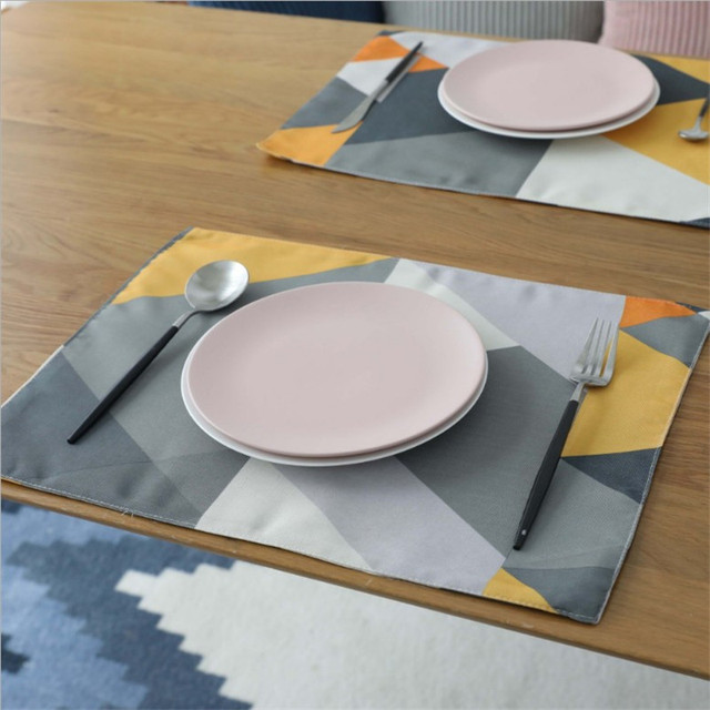 Geometric Patterns Placemat Individual Dining Table Mat Home Decoration Kitchen Accessories Modern Stand Under Hot The