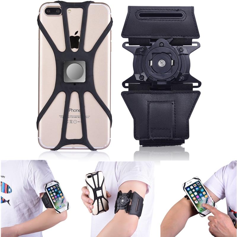 Teléfono universal brazalete brazo Clip para iPhone XS max correr al aire libre deporte araña casos para Samsung S10 Plus P30 Pro