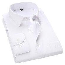 4XL 5XL 6XL 7XL 8XL большой размер мужская деловая Повседневная рубашка с длинными рукавами белая синяя Черная умная мужская деловая рубашка плюс