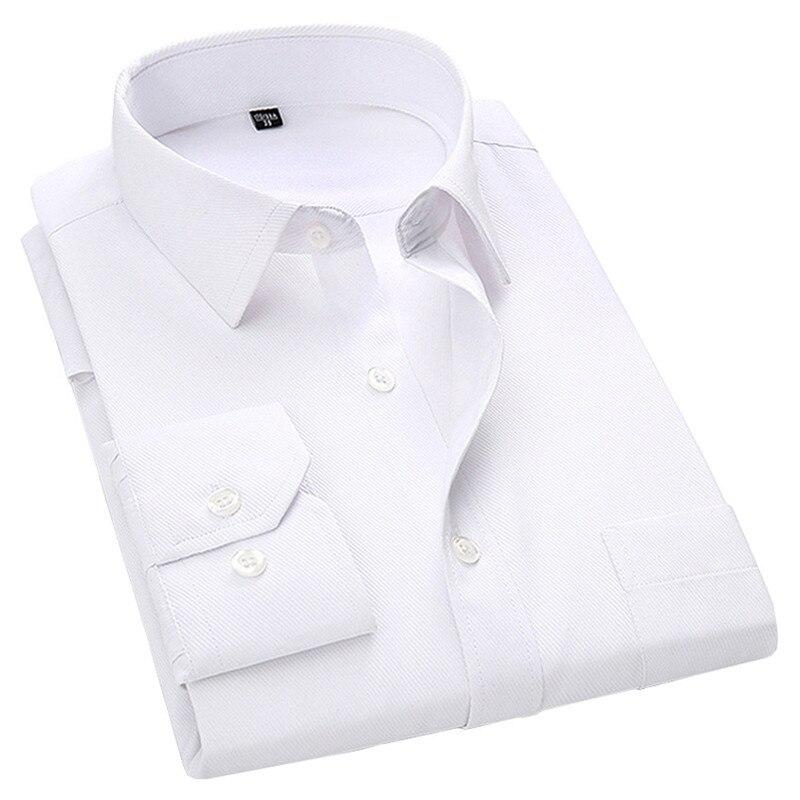4XL 5XL 6XL 7XL 8XL grande taille hommes d'affaires décontracté à manches longues chemise blanc bleu noir Smart mâle robe sociale chemise Plus