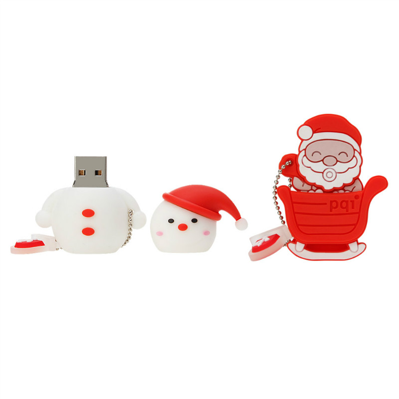 Image 3 - Usb Flash Drive 32GB 64GB Pen Drive Cartoon Santa Claus Milu Pendrive 4GB 8GB 16GB 128GB USB Stick Best Christmas Gift U Disk-in USB Flash Drives from Computer & Office