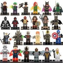 480pcs/lot Super Heroes Marvel Assemble Avengers DC Captain America Minifigures Building Blocks Sets Bricks Mini Figures Toys