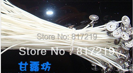 14cm candle wicks Pretabbed cotton CORE Candle Making supplies, pre waxed, ready to use oil wicks