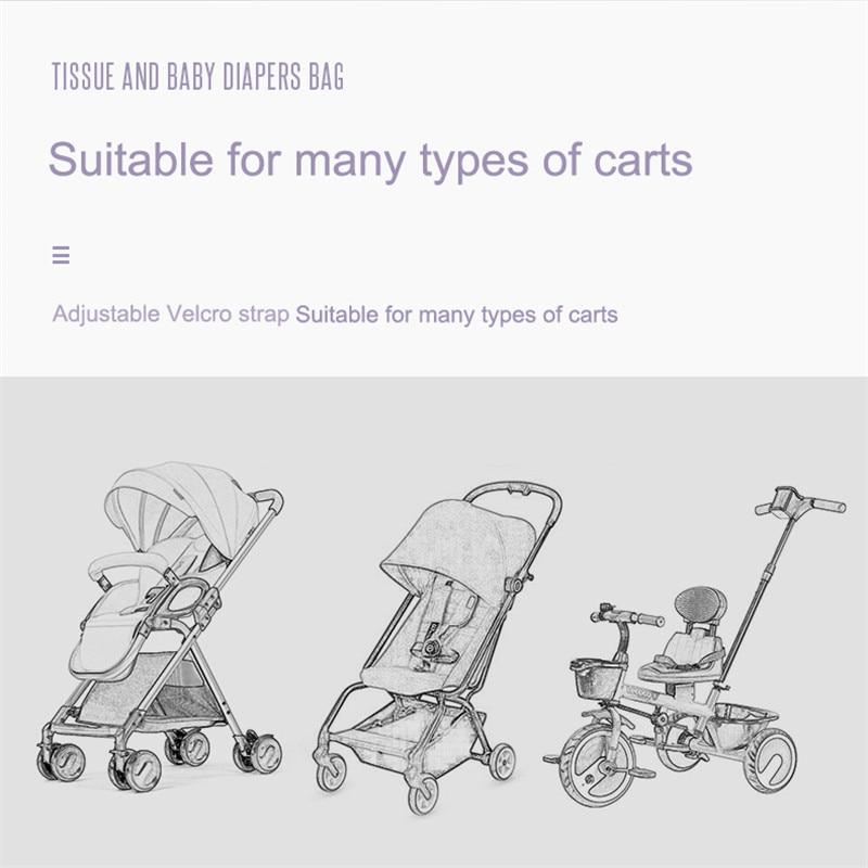 SeckinDogan Kinderwagen Tas Grote Capaciteit Luier Tassen Outdoor Reizen Opknoping Wagen Mama Bag Kinderzorg Organizer 4