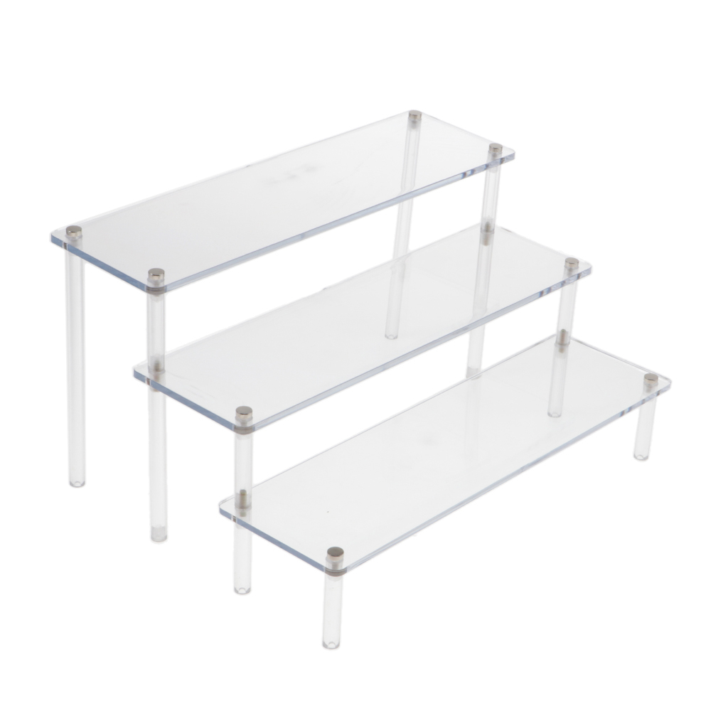 Action Figures Showcase Display-Rack Acrylic 3-Step-Riser for