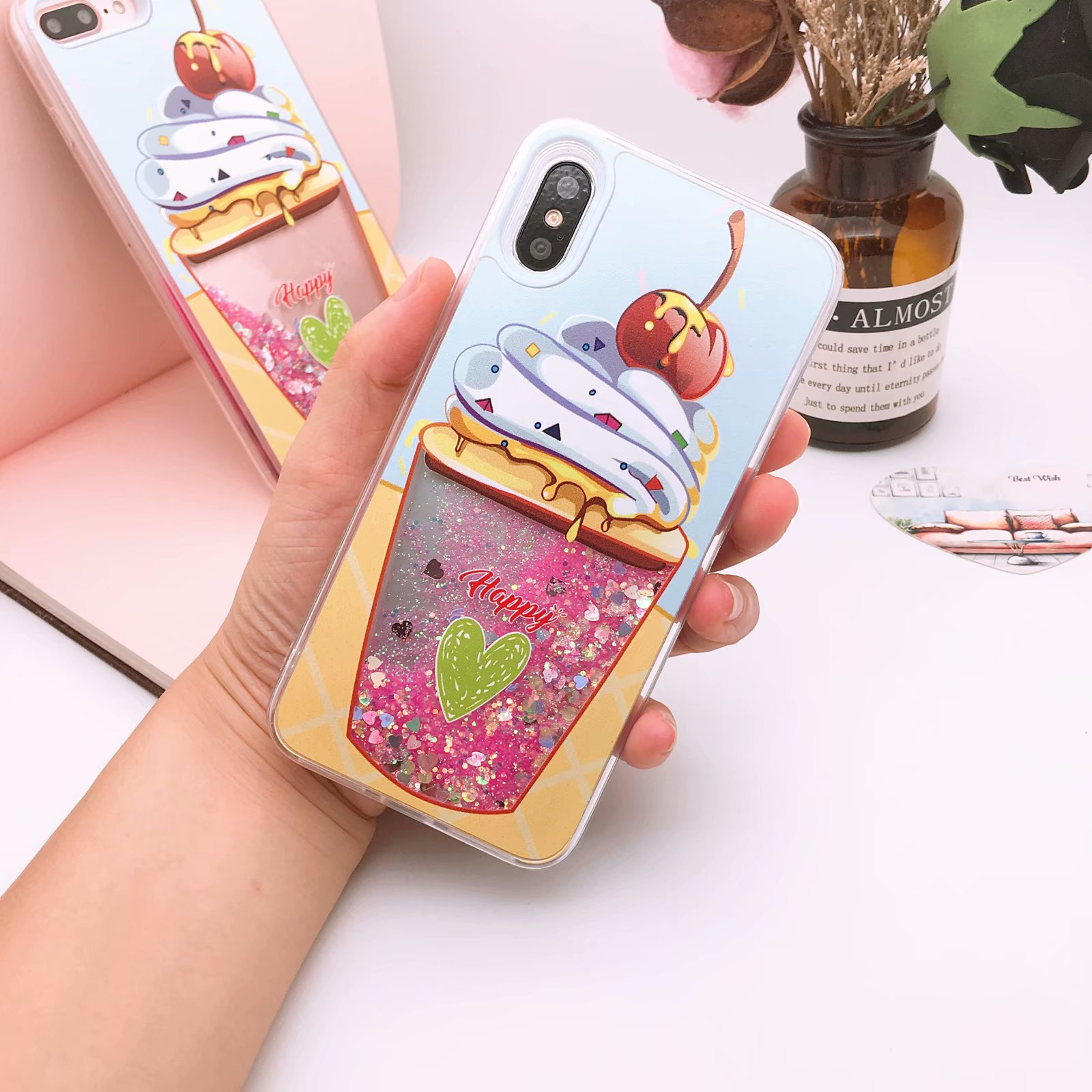 Cellphones & Telecommunications Official Website 2018 Ice Cream Water Liquid Case For Iphone X 8 7 6s Plus Luxury Quicksand Sparkle Glitter Star Soft Tpu Cover Phone Cases Relieving Heat And Sunstroke