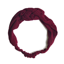 womens knitted hairbands headband plain elastic korean stylish turban hair accessories bands for women