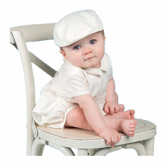4bef0714c1379 US $33.0 |BBWOWLIN Newborn Baby Boys Clothes Set Christening Thanksgiving  Outfit Baby Boy White Rompers with Cap Christmas Clothes 013-in Clothing ...