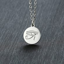 Coin Men Necklace Eye Of Horus Pendant Fatima Helping Hand Amulet Charm Medallion Jewelry(China)