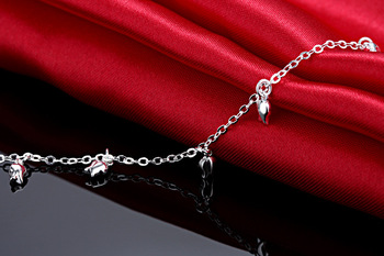 New Fashion Summer Sexy Silver Rose  Anklet for women  Pendant Chain Ankle Bracelet Foot Jewelry 2