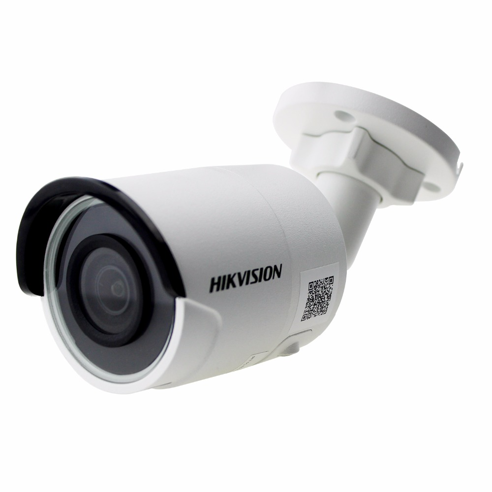 Original Hik English Version DS-2CD2085FWD-I 8MP Network Bullet Camera Support POE H.265+ H.264 IR IP67 cctv camera SD Card Slot original english ds 2cd2432f iw hik 3mp ir cube ip network microphone wireless camera poe wi fi pir detection