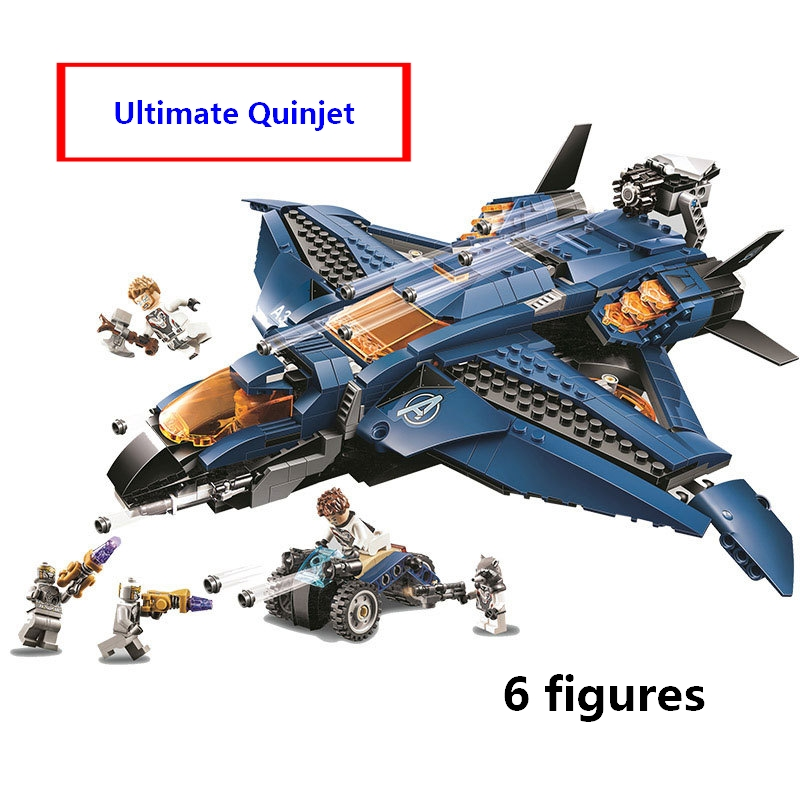 Compatible with lego 76126 Marvele Avengers endgame Ultimate Quinjet Plane Super Heroes Playset Hawkeye Rocket Thor