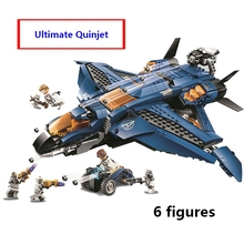 Compatible with lego 76126 Marvele Avengers endgame Ultimate Quinjet Plane Super Heroes Playset Hawkeye Rocket Thor Figures