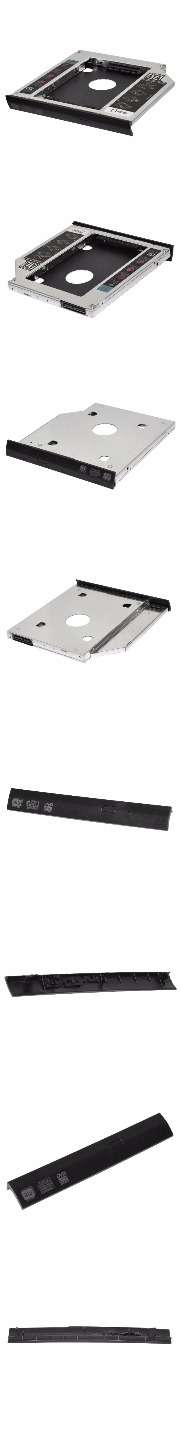 SATA 2ND HDD SSD HARD DRIVE caddy+bezel for HP ZBook 15 17 G2 G3 G4