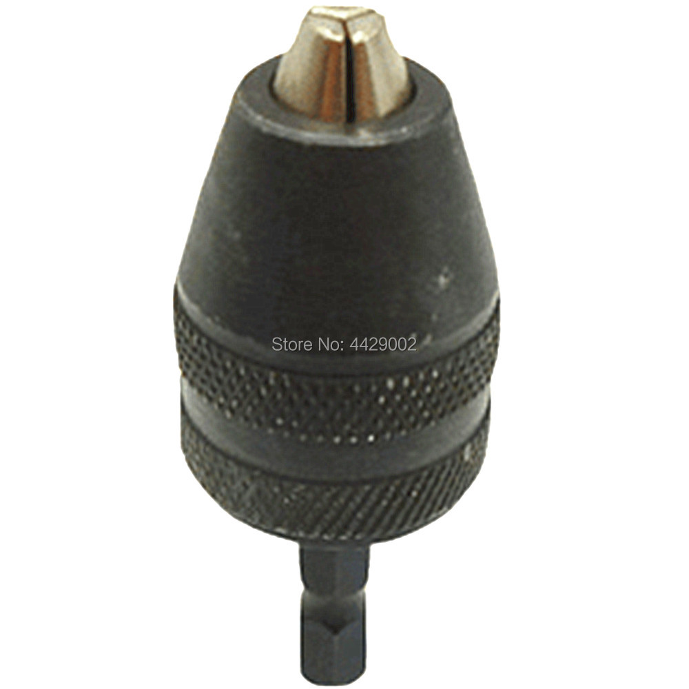 Alloy Black Hexagon Shank Drill Chuck Quick Change Bit Driver Converter Adaptor