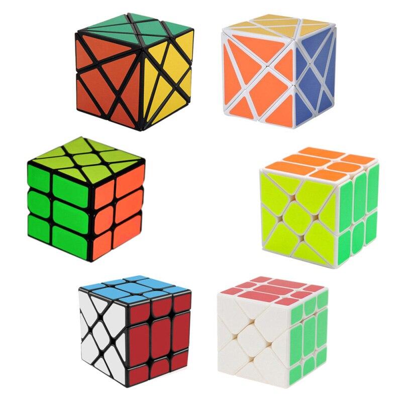 3 ピース/セットマジックキューブセット 3 × 3 × 3 フィッシャーキューブ & 2 × 2 × 2 風ホイールマジックキューブ & 変動角軸キューブパズルのおもちゃ (W0 -