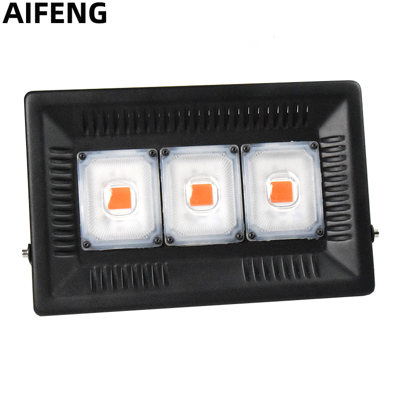 AIFENG Full Spectrum LED Grow Light 50W 100W 150W Waterproof COB Growth Flood Light 220V For Plants Indoor Hydroponic Greenhouse