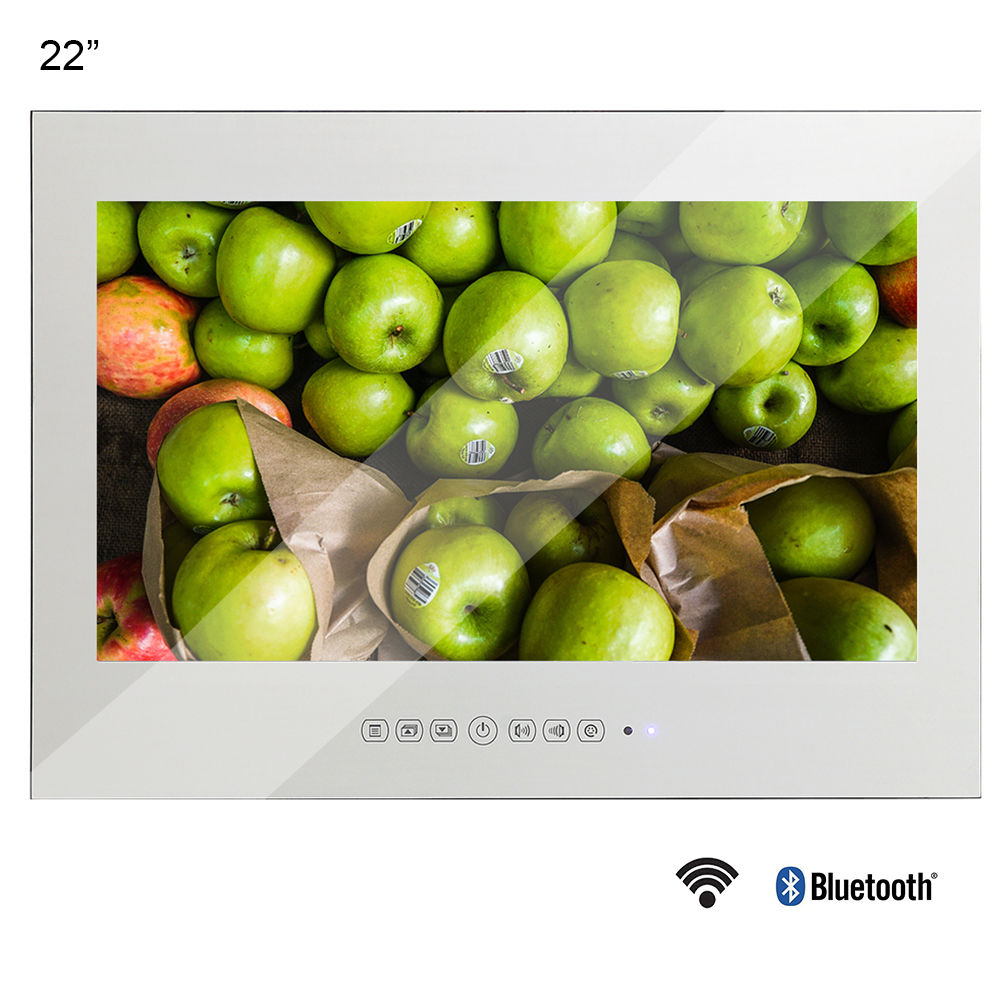 Souria 22 Inch Magic Mirror LED TV With WiFi HD 1080i Android 9.0 Smart Bathroom Frameless Monitor Indoor Advertising