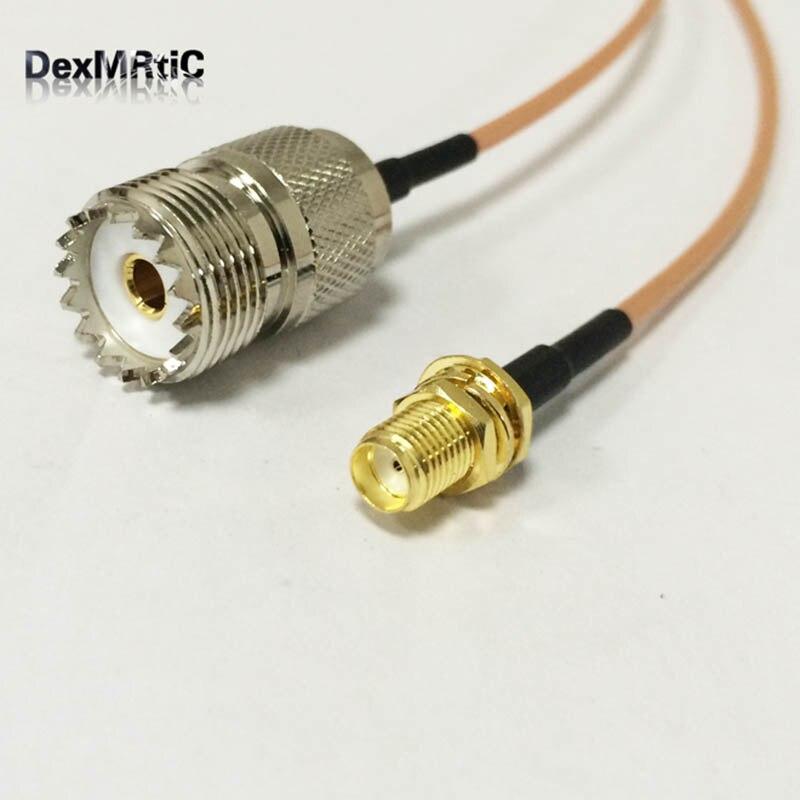 New SMA Female Jack Switch UHF Female SO239 Jack Cable RG316 Wholesale Fast Ship 15CM 6