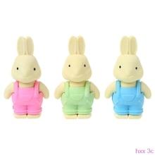 Cute Rabbit Eraser School Supplies Creative Pencil Stationery Children Kids Gift