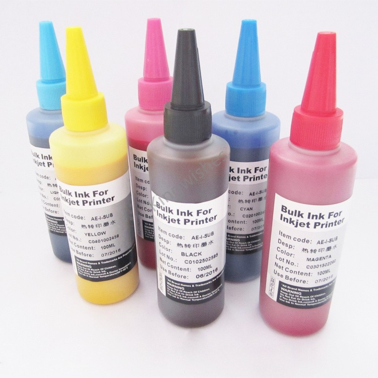 ФОТО Factory sell 6PCS/Lot Sublimation Ink For Epson RX585 RX685 RX560 PX820FWD Inkjet Printer