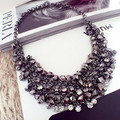 Fashion chain crystal punk female accessories decoration necklace short chain accessories