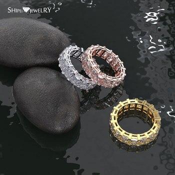 029768f06875 Anillo apilable de 3 colores de la joyería clásica de la marca SHIPEI  anillos de Halo de la fiesta de compromiso de la boda para mujeres niñas  talla 5 6 7 8 ...