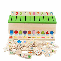Learn Montessori Educational Wooden Game Recognition Toy Baby Kids Early Learning Classification Box Toys for Children Math Toys