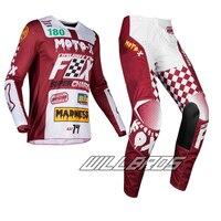 Free shipping Naughty Fox 2019 MX 180 Czar Jersey Pants Combo Cardinal Maroon Adult Gear Set for Motocross Dirt