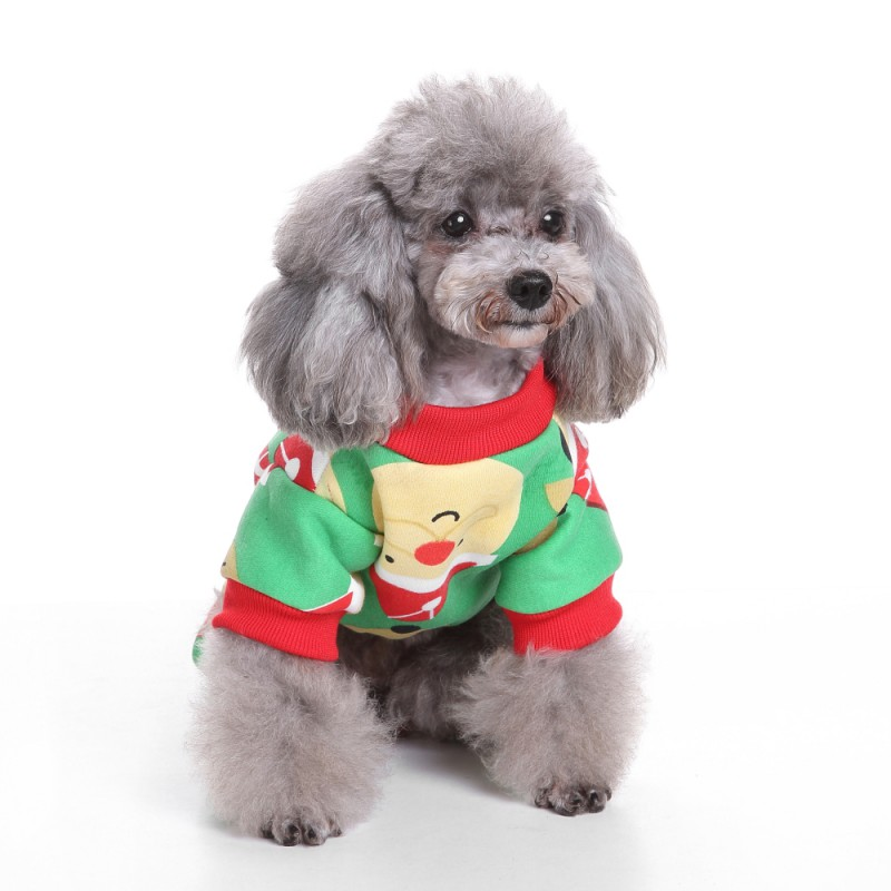 Lovely Christmas Fitwarm Cute Penguin Xmas Pet Clothes for Dog Pajamas Soft Christmas dog clothes For pet Puppy clothing HY
