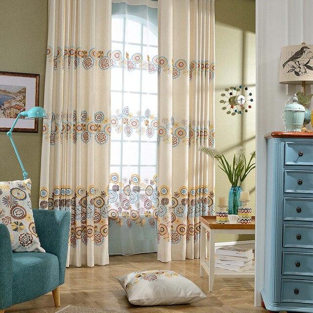rideaux pour salon salle à manger chambre anneaux prendre coton