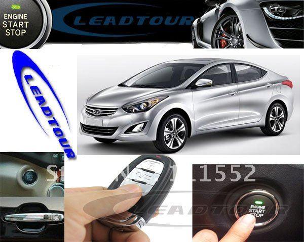 smart keyless entry push button start remote start profession wire sockets  for hyundai elantra factory price freeshipping