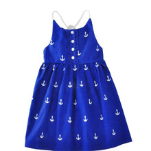 цена на Baby Girls Summer Dress 2017 New Brand Kids Party Dress For Girls Children Beach Dress Fashion Clothes