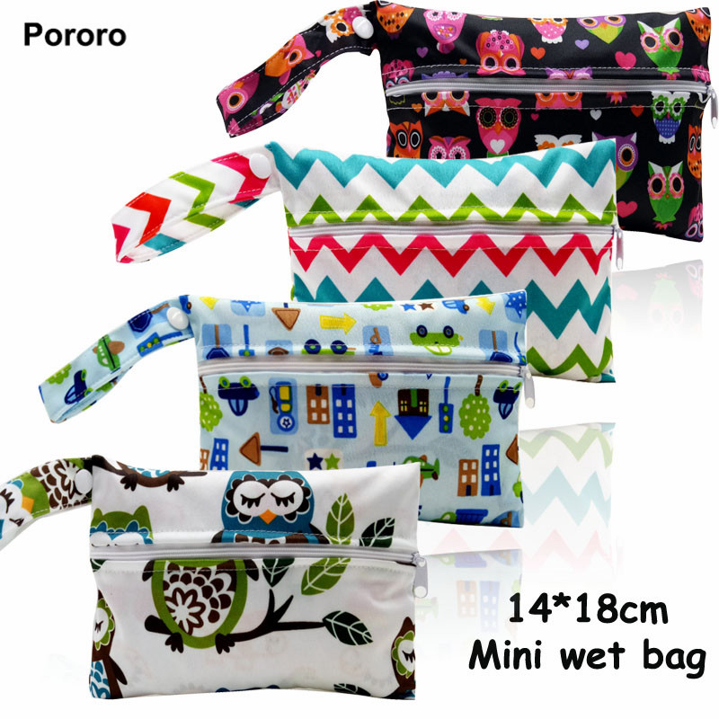 14*18cm Mini size Reusable Wet Bags for Mama Cloth Menstrual Pad,15 designs waterproof bag for nursing pads,sanitary pads holder