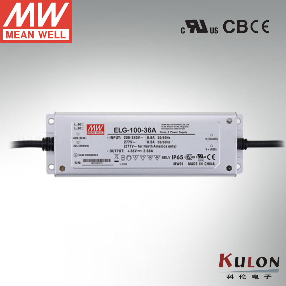 Genuine Meanwell Power Supply ELG-100-36A 96W 2.66A 36V Adjustable LED driver genuine meanwell driver elg 100 48a 96w 2a 48v adjustable led power supply