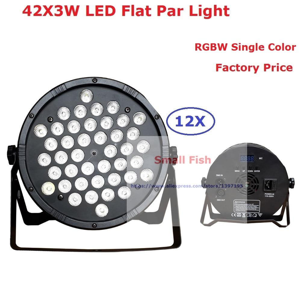 Best Price 120W Led Par Can 42X3W RGBW Single Color Led Slim Flat Par Light Strobe Laser DMX DJ Disco Party Entertainment Lights