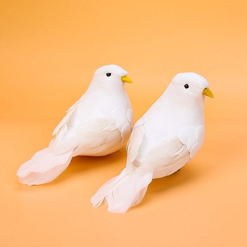 2019 Creative Simulation Ornament Bird Statue Animal Sculpture Crafts Home Furnishing Garden Decor Pigeon Figure Doves Figurine