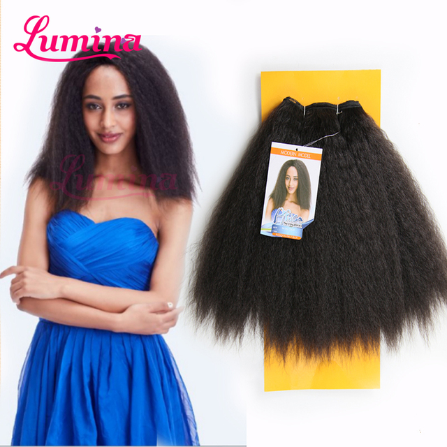 Ombre Miss Coco Hair Piece Natural Kinky Yaki Straight Synthetic