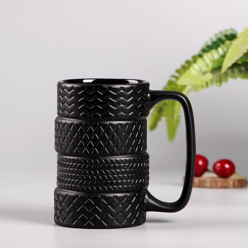 300ml creative tire mug Large capacity ceramic mug ...